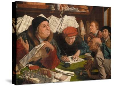 In the Solicitor's Office, 1542-Marinus Van Reymerswaele-Stretched Canvas Print