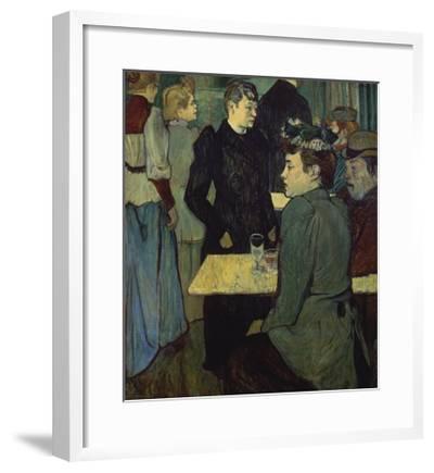 A Corner in the Moulin De La Galette-Henri de Toulouse-Lautrec-Framed Giclee Print