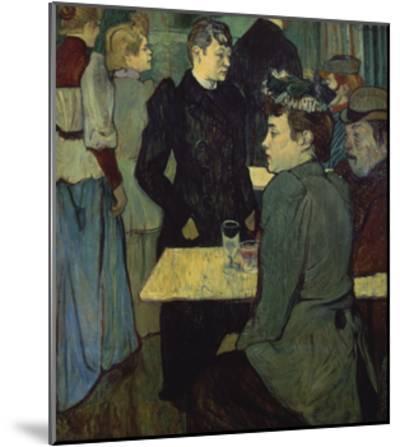 A Corner in the Moulin De La Galette-Henri de Toulouse-Lautrec-Mounted Giclee Print