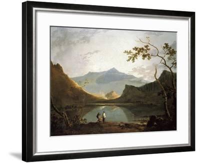Snowdon from Llyn Nantlle, um 1765/67-Richard Wilson-Framed Giclee Print