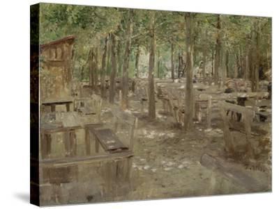 Biergarten in Dachau, 1888-Fritz von Uhde-Stretched Canvas Print