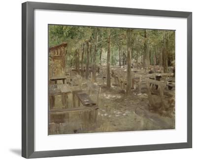 Biergarten in Dachau, 1888-Fritz von Uhde-Framed Giclee Print