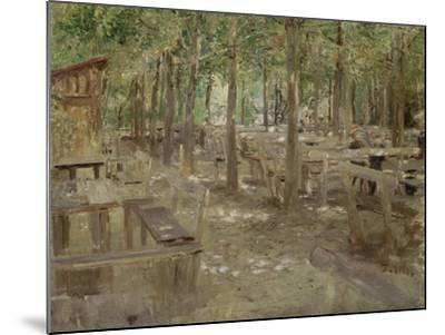 Biergarten in Dachau, 1888-Fritz von Uhde-Mounted Giclee Print