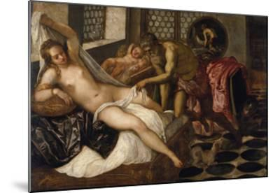 Mars and Venus Surprised by Vulcan-Jacopo Robusti Tintoretto-Mounted Giclee Print