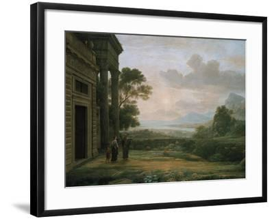 The Expulsion of Hagar and Ismael, 1668-Claude Lorraine-Framed Giclee Print