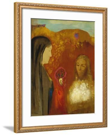 Christ and the Samaritan Woman-Odilon Redon-Framed Giclee Print