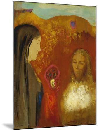 Christ and the Samaritan Woman-Odilon Redon-Mounted Giclee Print