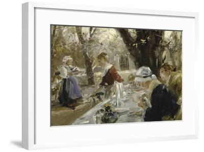 Beer Garden, about 1895-Arthur Langhammer-Framed Giclee Print