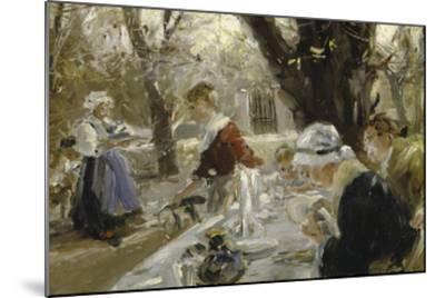 Beer Garden, about 1895-Arthur Langhammer-Mounted Giclee Print