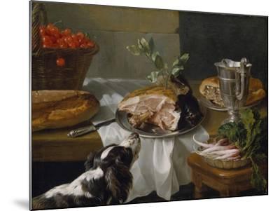 Still Life with Dog-Alexandre-Francois Desportes-Mounted Giclee Print