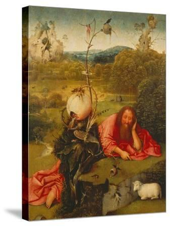St. John the Baptist in the Desert-Hieronymus Bosch-Stretched Canvas Print