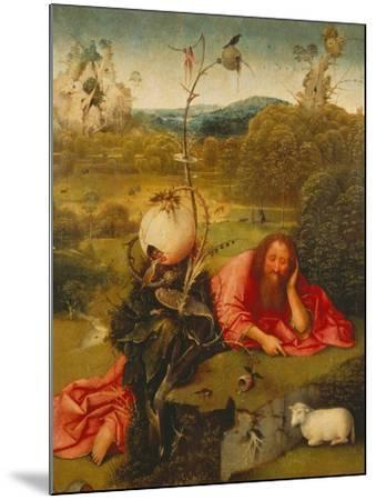 St. John the Baptist in the Desert-Hieronymus Bosch-Mounted Giclee Print
