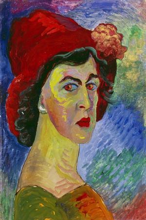 Self Portrait I., About 1908-Marianne von Werefkin-Stretched Canvas Print