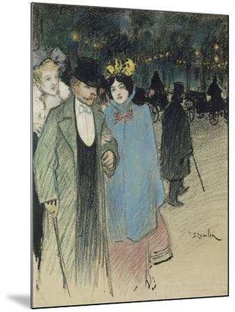 After the Play, about 1900-Th?ophile Alexandre Steinlen-Mounted Giclee Print
