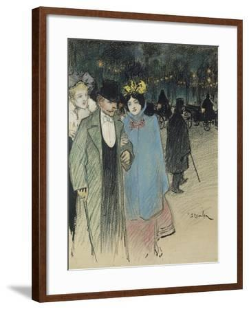 After the Play, about 1900-Th?ophile Alexandre Steinlen-Framed Giclee Print