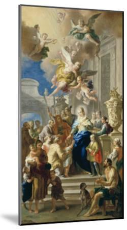 Saint Elizabeth of Hungary Giving Out Alms, 1736/37-Daniel Gran-Mounted Giclee Print