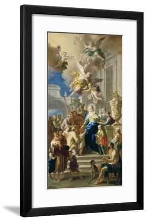 Saint Elizabeth of Hungary Giving Out Alms, 1736/37-Daniel Gran-Framed Giclee Print