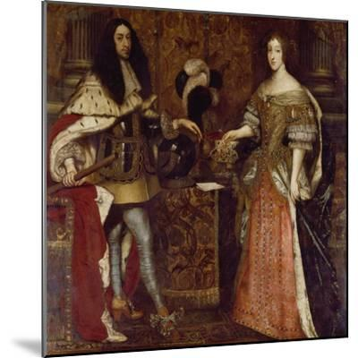 The Elector Ferdinand Maria and His Wife Henriette Adelaide. Mid-17th Century-Sebastiano Bombelli-Mounted Giclee Print