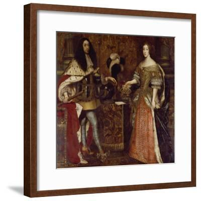 The Elector Ferdinand Maria and His Wife Henriette Adelaide. Mid-17th Century-Sebastiano Bombelli-Framed Giclee Print