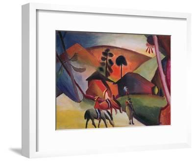 Native Americans on Horses, 1911-Auguste Macke-Framed Giclee Print