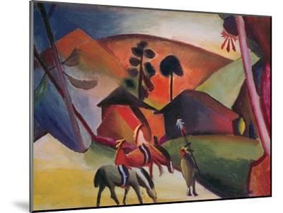 Native Americans on Horses, 1911-Auguste Macke-Mounted Giclee Print