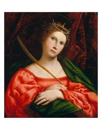 St. Catherine, 1522-Lorenzo Lotto-Framed Giclee Print