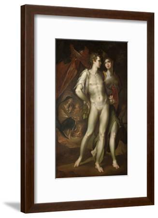 Bacchus and Ceres Leaving Venus, about 1590-Bartholomaeus Spranger-Framed Giclee Print