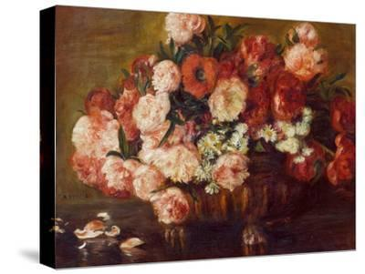 Still-Life with Peonies, 1872-Pierre-Auguste Renoir-Stretched Canvas Print