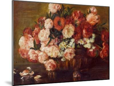 Still-Life with Peonies, 1872-Pierre-Auguste Renoir-Mounted Premium Giclee Print