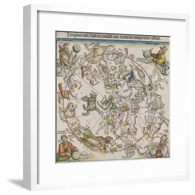 Map of the Northern Sky-Albrecht D?rer-Framed Giclee Print