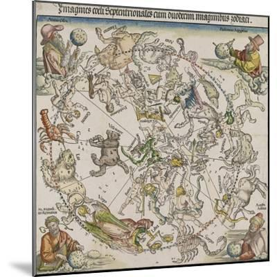 Map of the Northern Sky-Albrecht D?rer-Mounted Giclee Print