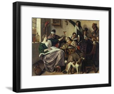Cheerful Party (The Family of the Painter), about 1657-Jan Havicksz^ Steen-Framed Giclee Print
