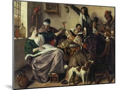 Cheerful Party (The Family of the Painter), about 1657-Jan Havicksz^ Steen-Mounted Giclee Print