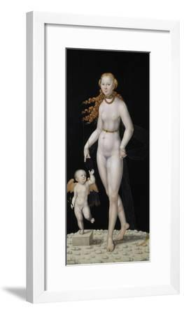 Venus and Cupid-Lucas Cranach the Younger-Framed Giclee Print
