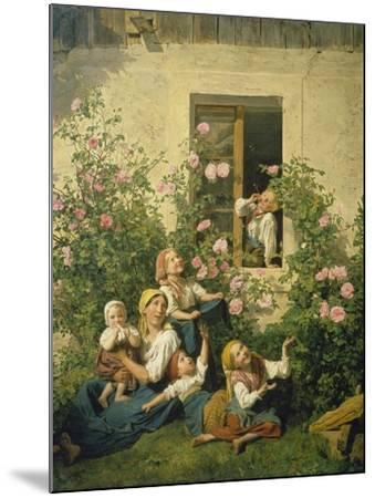 Children Blowing Bubbles, 1842-Ferdinand Georg Waldm?ller-Mounted Giclee Print