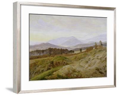 Landscape in the Riesengebirge (Bohemian Landscape), about 1835, Unfinished-Caspar David Friedrich-Framed Giclee Print