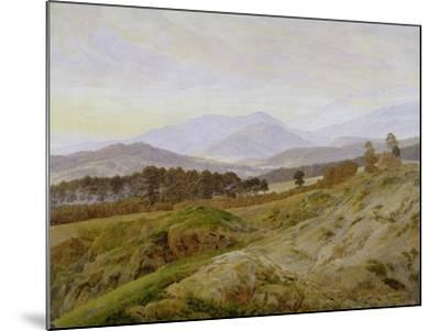 Landscape in the Riesengebirge (Bohemian Landscape), about 1835, Unfinished-Caspar David Friedrich-Mounted Giclee Print