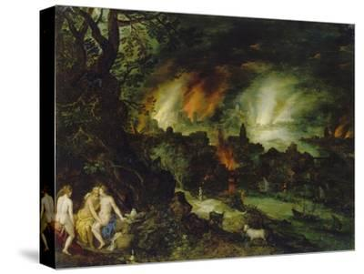Sodom and Gomorrha (Lot and His Daughters)-Jan Brueghel the Elder-Stretched Canvas Print