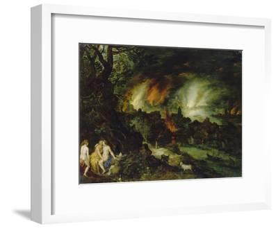 Sodom and Gomorrha (Lot and His Daughters)-Jan Brueghel the Elder-Framed Giclee Print