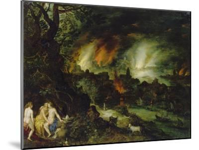 Sodom and Gomorrha (Lot and His Daughters)-Jan Brueghel the Elder-Mounted Giclee Print