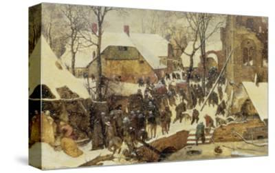 The Adoration of the Magi in the Snow, 1567-Pieter Bruegel the Elder-Stretched Canvas Print