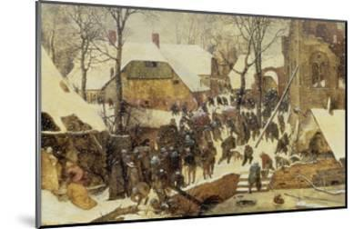 The Adoration of the Magi in the Snow, 1567-Pieter Bruegel the Elder-Mounted Giclee Print