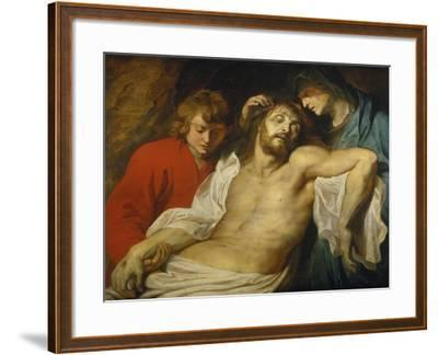 The Lamentation over the Dead Christ with the Virgin and St. John, about 1613-Peter Paul Rubens-Framed Giclee Print