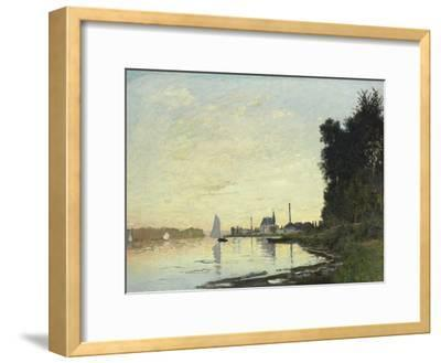 Argenteuil, Late Afternoon, 1872-Claude Monet-Framed Giclee Print