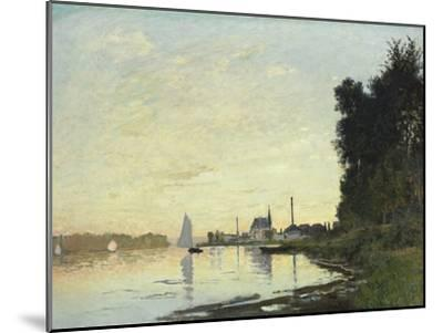 Argenteuil, Late Afternoon, 1872-Claude Monet-Mounted Giclee Print