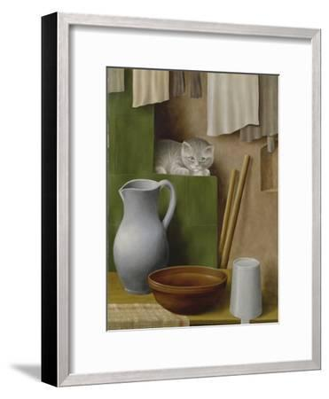 Still Life with Cat, 1923-Georg Schrimpf-Framed Giclee Print