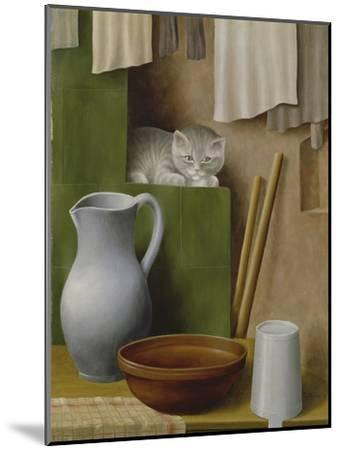 Still Life with Cat, 1923-Georg Schrimpf-Mounted Giclee Print