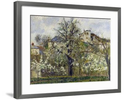 The Vegetable Garden with Trees in Blossom, 1877-Camille Pissarro-Framed Giclee Print