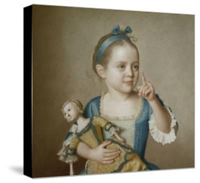 Girl with Doll-Jean-Etienne Liotard-Stretched Canvas Print