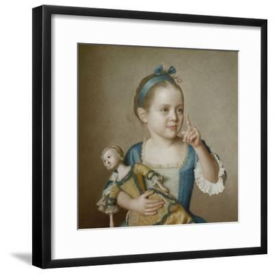 Girl with Doll-Jean-Etienne Liotard-Framed Giclee Print
